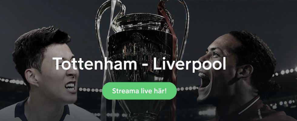 Tottenham Liverpool TV tider