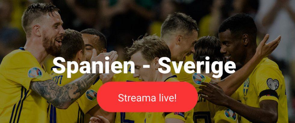 Sverige Spanien TV tider