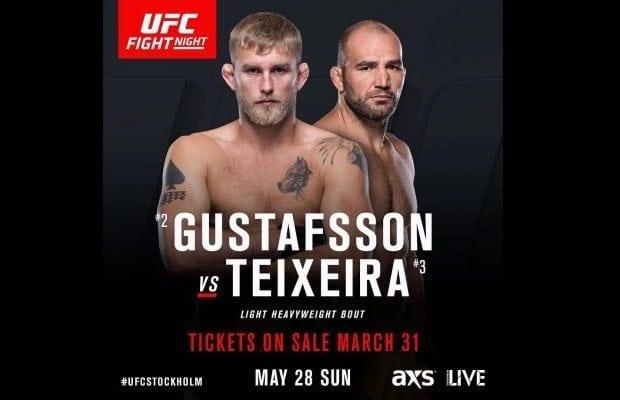 UFC Stockholm TV tider