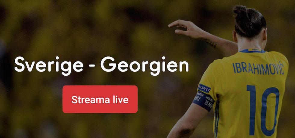 Sverige Georgien TV tider