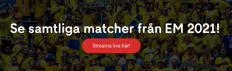 Fotbolls EM TV tider - program, TV-tablå & live stream på TV Sverige