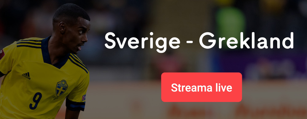 Sverige Grekland TV tider